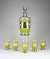 1C744 Retro üveg pálinkás likőrös kínáló készlet