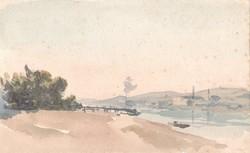 Rauscher Lajos (1845 - 1914) - 13 x 21,5 cm akvarell, papír