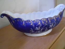 ARPO Gyönyörű nagy formás aranyozott porcelán jardinier kínáló hibátlan 40x15 cm.