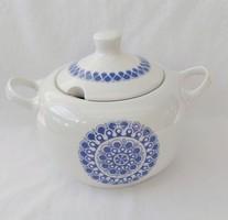 Alföldi porcelán levesestál kék Gabriella dekoros