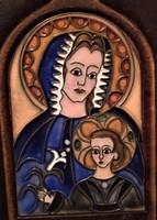 Tűzzománc kép: Mária a kis Jézussal