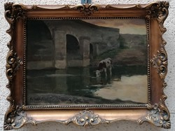 Edvi Illés Aladár (1870-1958)  Eredeti Festmény Garanciával