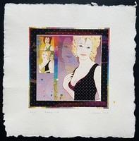 Szyksznián Wanda - 20 x 20 cm computer print, merített papír