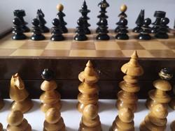 1930 k. antik bécsi kávéházi sakk /c 1930 Austrian Coffeehouse Chess Set Nekvasil