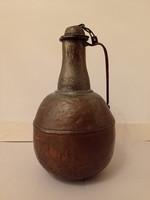 Antik arab konyhai eszköz nagy vörösréz kancsó kiöntő 4158