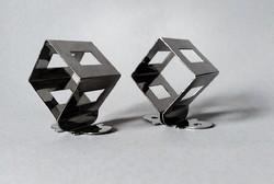 Nathalie du Pasquier posztmodern dizájner szalvétagyűrű-pár, Bodum 1990 /3/