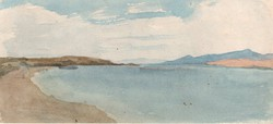 Rauscher Lajos (1845 - 1914) - 10 x 20 cm akvarell, papír