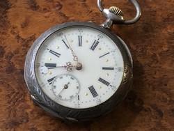 Férfi ezüst zsebóra 47 mm