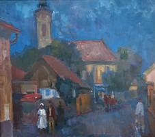 Kántor Andor Szentedre olaj festmény