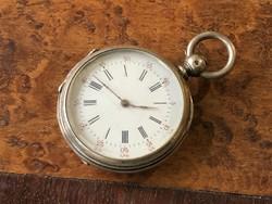 Női kulcsos ezüst zsebóra 34 mm