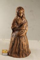 Szignált terrakotta szobor 784