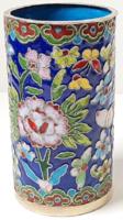 Gyönyörű rekeszzománc virágmitás váza