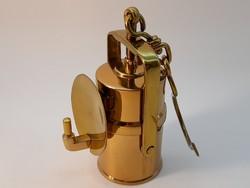 Mining lamp, carbide lamp 9 cm miniature copy