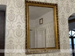 Ökörszemes Biedermeier antik tükör