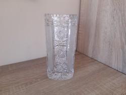 Ólom kristály váza 20cm.