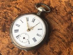 Férfi ezüst zsebóra 45 mm
