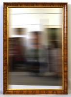 1D869 Antik hatalmas Biedermeier tükör vastagon furnérozott keretben (1850-70 körüli darab)