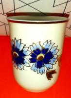 Zsolnay búzavirág mintás pohár