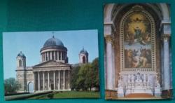 Esztergomi Főszékesegyház és a főoltára képeslapon