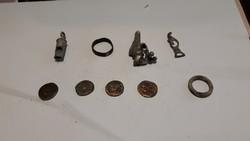 9db római egyveleg bronz pénz ezüstfibúla és delf  pénz  es fibula eladó .egyik gyuru arany 32000 ft