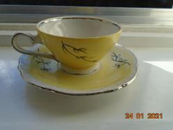 1940 A Herendi Bakos Éva monogramjával,ezüst növénymintás,platina díszcsíkos ,EPIAG D.F kávés szett