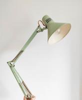Pasztellszínű mentazöld műhelylámpa - loft stílus - retro fali lámpa, hódmezővásárhelyi