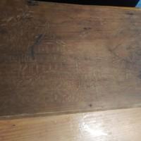 Règi intarziás kinai jelenetes fa doboz