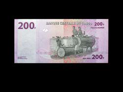 UNC - 200 FRANCS - KONGÓI - 2000