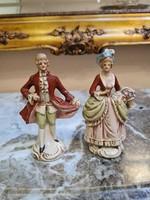 Német porcelán barokk pár/ GDR