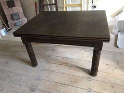 Ritka Lingel 4 méteresre kihúzható asztal + 6 szék 1920-30-as évek