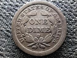 USA Ülő Liberty dime .900 ezüst 1 dime 1857 O (id48083)
