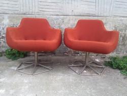 """Két darab retro forgó fotel """" PILLE fotel  """" kagyló fotel - 70-es évek - együtt eladó"""