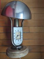 Art deco gomba mofém lámpa-óra, 30 cm