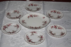 Royal Albert Lavender Rose's süteményes készlet.