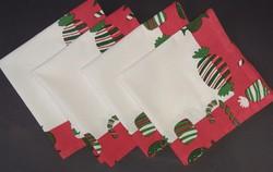 Karácsonyi textil szalvéta 4db  (39×40cm)