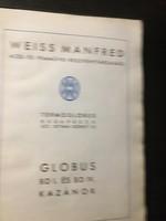 Weiss Manfréd:: GLOBUS és BD I. és IV. Kazánok