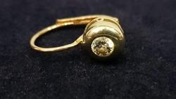 Arany-ezüst Buton Fülbevaló Gyémánttal fél pár