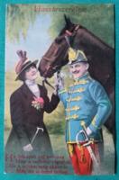 Huszárszerelem - Reprint Kósa Pál gyűjteményéből; Postcard BT. Budapest,postatiszta