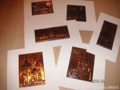 Képeslapok vörösréz lemezből