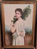Múzsa teljes alakos portréja - festmény