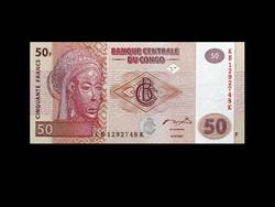 UNC - 50 FRANCS - KONGÓI - 2007