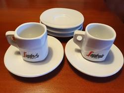 SEGAFREDO mokkás csészék + alj