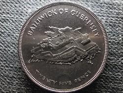 Guernsey II. Erzsébet uralkodásának 25. évfordulója 25 penny 1977 (id48078)