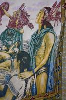 Hatalmas jelenetes indián ágyterítő terítő falvédő falikárpit csodás 233 x 264