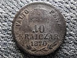 Osztrák-Magyar Forint .400 ezüst 10 Krajcár 1870 KB (id48095)
