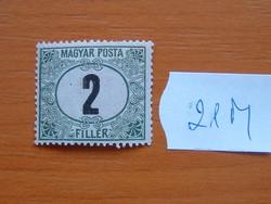 MAGYAR POSTA 2 FILLÉR 1920 21M