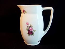 Gránit porcelán rózsa virág mintás nagy vizes, teás kancsó, kiöntő 20 cm magas