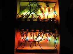Vintage - 25- éves - fényfüzér - karácsonyfa égősor
