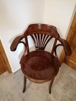 Thonet karfás szék,íróasztalszék nagy ülőlapos !