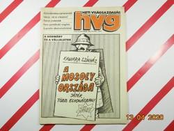 Régi retro újság - HVG Heti Világgazdaság - 1988 október 29. , X. évfolyam 43. (491.) szám